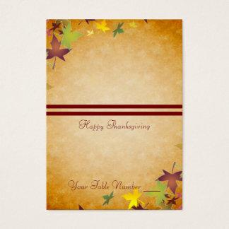 Fall-Herbst-Ernte-Erntedank-Tabelle Placecard Visitenkarte