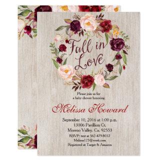 Fall in Liebe-Baby-Duschen-Einladung 12,7 X 17,8 Cm Einladungskarte