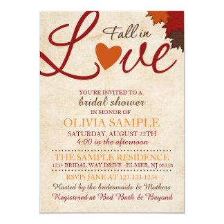 Fall in Liebe-Brautparty-Einladung Karte