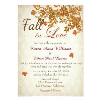 Fall in Liebe-rustikale Hochzeits-Einladung Karte