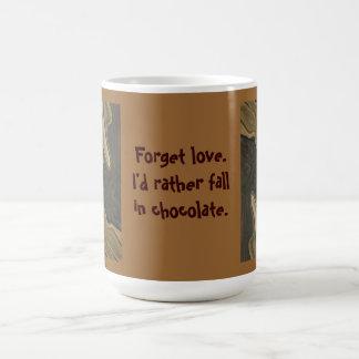 Fall in Schokoladen-Spaß Kaffeetasse