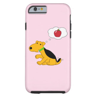 Fall Kawaii Airedale Hund w Apple iPhone/6/6s Tough iPhone 6 Hülle