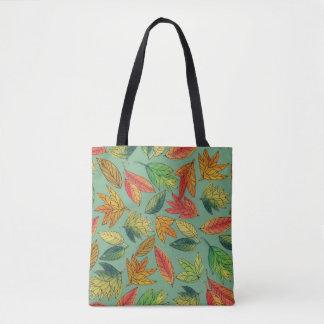 Fall-Laubwatercolor-Muster-Tasche Tasche