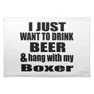 Fall mit meinem Boxer Stofftischset