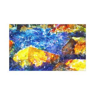 Fall-River Aquarelldruck Leinwanddruck