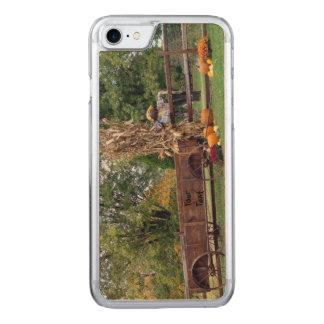 Fall-Szenen-aus alter Zeit Bauernhof-Wagen, Carved iPhone 7 Hülle