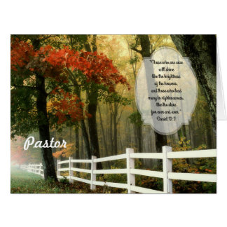 Fall-Szenen-kundenspezifische Pastor-Anerkennung Karte