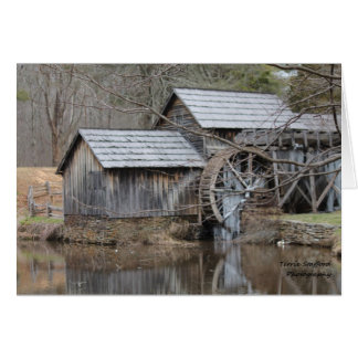 Fall-Tag an der Mühle in Blue Ridge Mountains Karte
