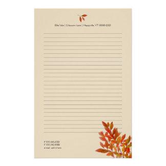 Fall-Thema-persönliches Briefpapier
