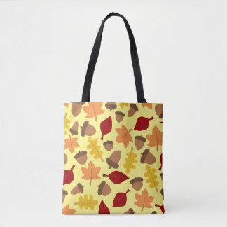 Fall-Wetter-Blätter-und Eichel-Taschen-Tasche Tasche