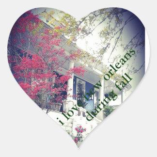 Fallaufkleber der Liebe I Herz-Aufkleber