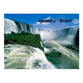 Fälle Brasiliens Iguassu (St.K.) Postkarte