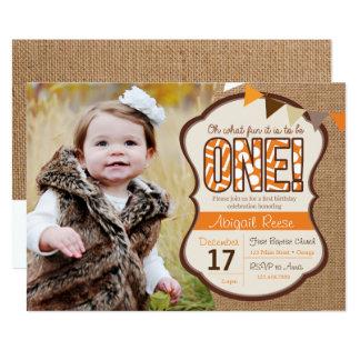 Fallen erste Geburtstags-Einladung 12,7 X 17,8 Cm Einladungskarte
