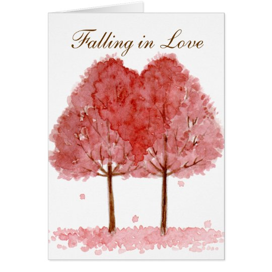 Fallen in Liebe Grußkarte
