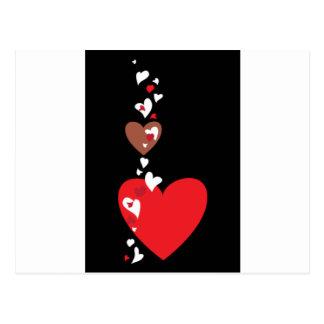 Fallende Herzen Postkarte