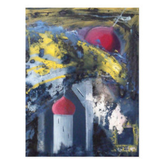 Fallende Turm-moderne Kunst Postkarte