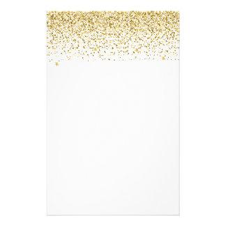 Fallender GoldGlitzerConfetti Briefpapier