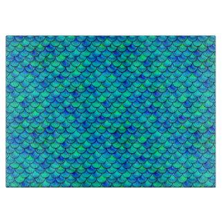 Falln Aqua-Blau-Skalen Schneidebrett