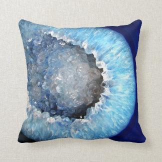 Falln blaues KristallGeode Kissen