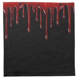 Falln Blut-Tropfen-Schwarzes Stoffserviette