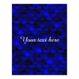 Falln dunkelblaue Meerjungfrau-Skalen 10,8 X 14 Cm Einladungskarte