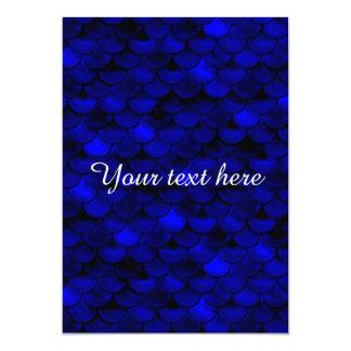 Falln dunkelblaue Meerjungfrau-Skalen 12,7 X 17,8 Cm Einladungskarte