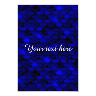 Falln dunkelblaue Meerjungfrau-Skalen 8,9 X 12,7 Cm Einladungskarte