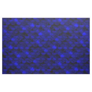Falln dunkelblaue Meerjungfrau-Skalen Stoff