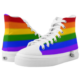 Falln Gay Pride-Flagge Hoch-geschnittene Sneaker