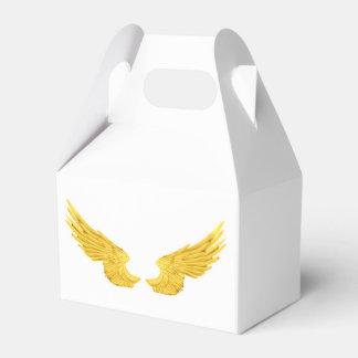 Falln goldene Engels-Flügel Geschenkschachtel