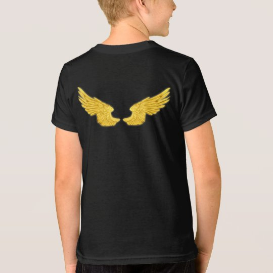 Falln goldene Engels-Flügel T-Shirt