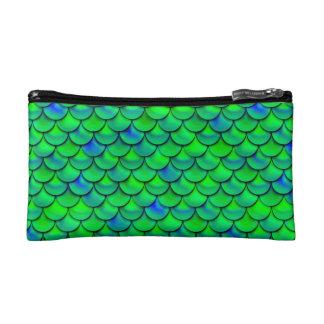 Falln grün-blaue Skalen Kosmetiktasche
