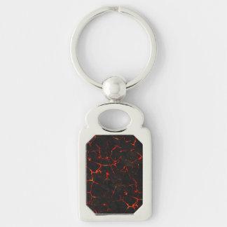 Falln heiße Lava Schlüsselanhänger