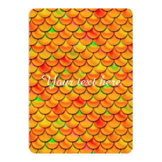 Falln orange und grüne Skalen 12,7 X 17,8 Cm Einladungskarte