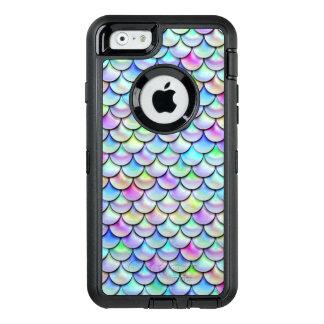 Falln Regenbogen-Blasen-Meerjungfrau-Skalen OtterBox iPhone 6/6s Hülle