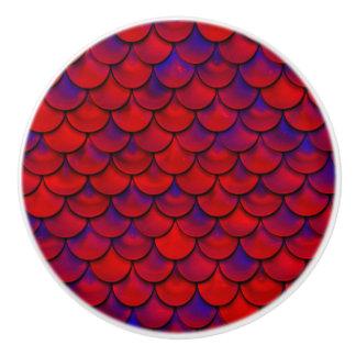 Falln rote und lila Skalen Keramikknauf