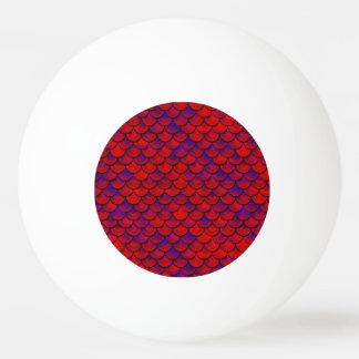 Falln rote und lila Skalen Tischtennis Ball