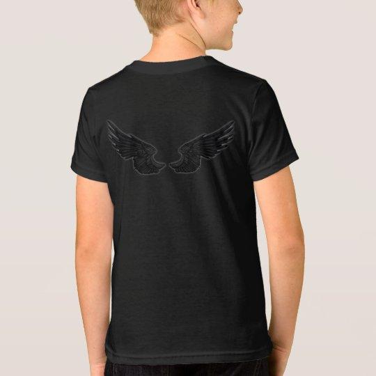 Falln schwarze Engels-Flügel T-Shirt
