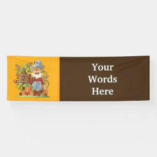 Fallsaisonvogelscheuche addieren Wörter Banner