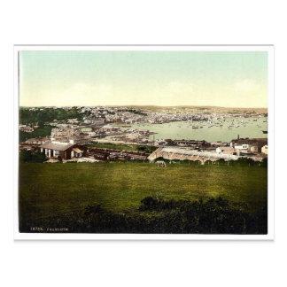 Falmouth, Cornwall, England Vintages Photochrom Postkarte