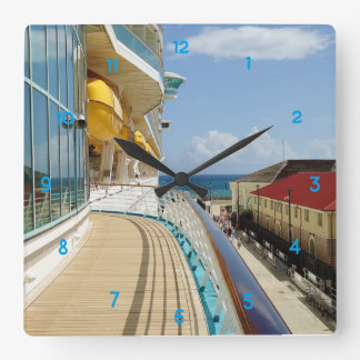 Falmouth Jamaika Dockside Quadratische Wanduhr