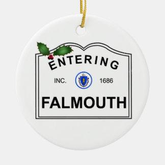 Falmouth MA Keramik Ornament