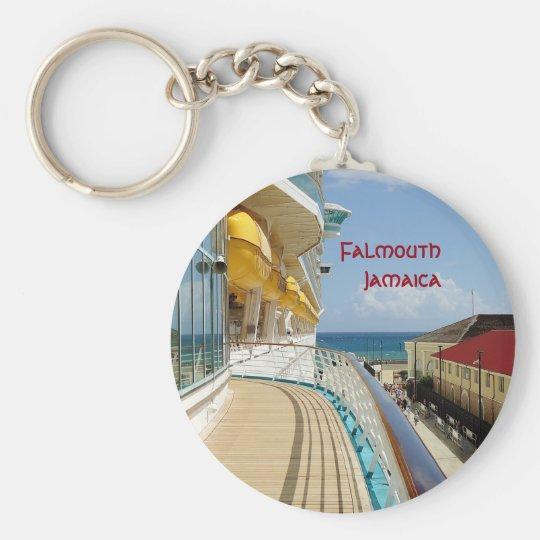 FalmouthDockside Standard Runder Schlüsselanhänger