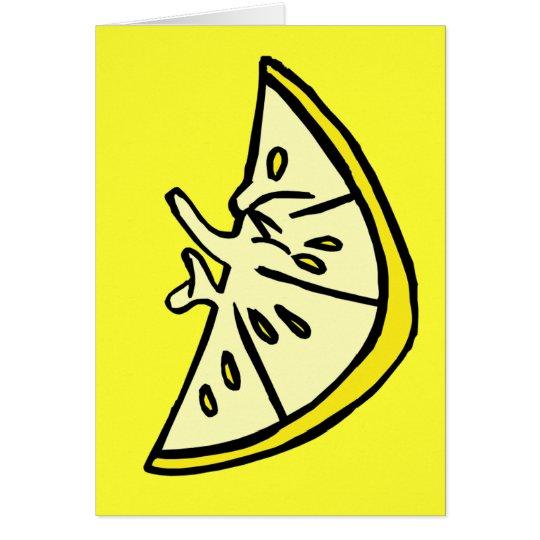 Fältchen-Zitrone Grußkarte