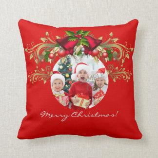 Familie der WeihnachtsweihnachtsFoto-Schablone 4 Kissen