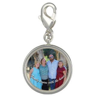 Familie fängt mit dem Herz-Charme an Foto Charms