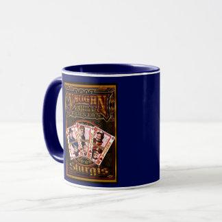 Familie Vaughn Wiedersehen-Kaffee-Tassenblau Tasse