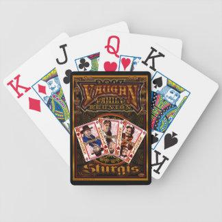 Familie Vaughn Wiedersehen-Spieler kardiert Bicycle Spielkarten