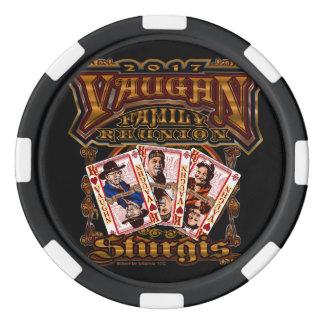 Familie Vaughn Wiedersehenschwarzes Poker-Chip Poker Chip Set