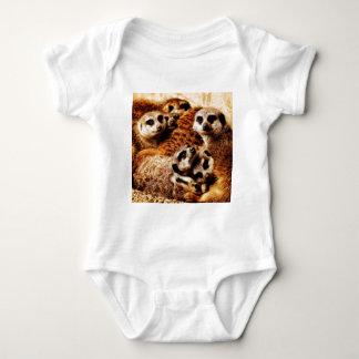 Familie von Meerkats Baby Strampler